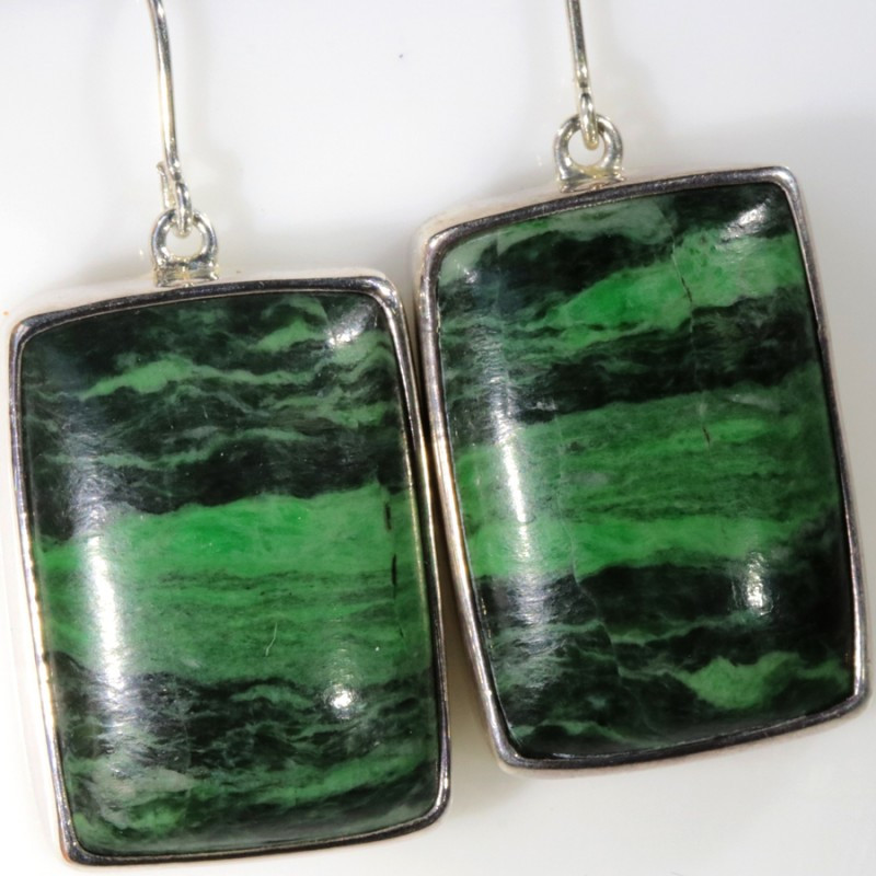 75.00 cts MAW SIT SIT JADE EARRINGS -SILVER [SJ4349]