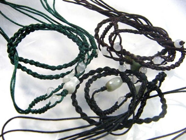 JADE NECKLACE PARCEL [3] -ADJUSTABLE 78.00 CTS [GT780 ]