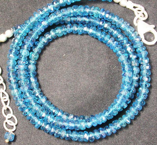 APAITITE NECKLACE -SEA BLUE 54.60 CTS [SJ856]