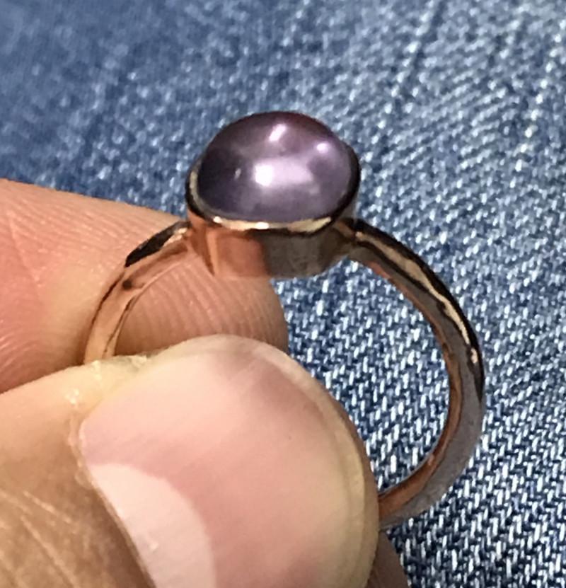 Natural Amethyst and Silver Ring