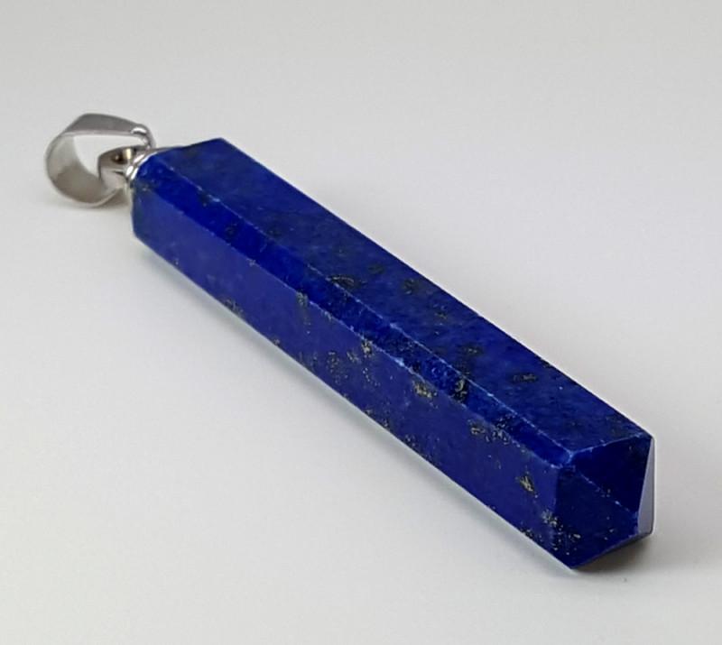 34 Carats Natural Lapis Lazuli Silver Pendant