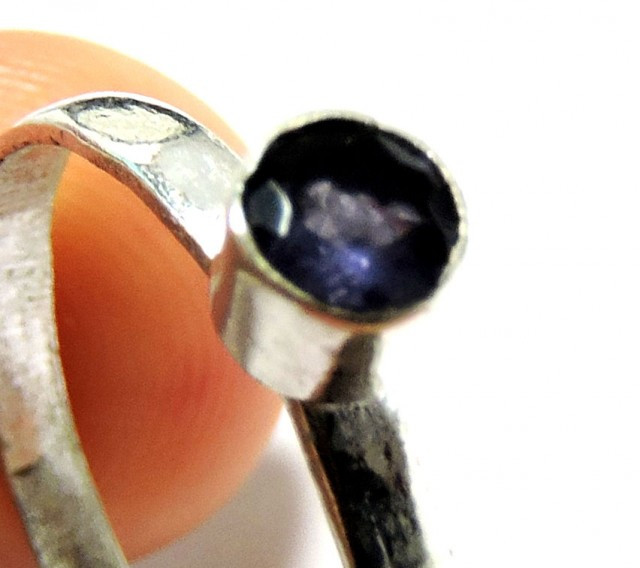 Cute Natural Amethyst Ring Size 8 JGG 147