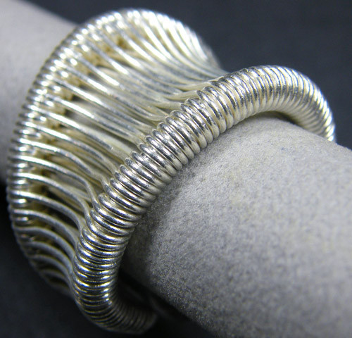 WIRE WRAP THAI HILL TRIBE SILVER RING SIZE 10.5 GTT 1269