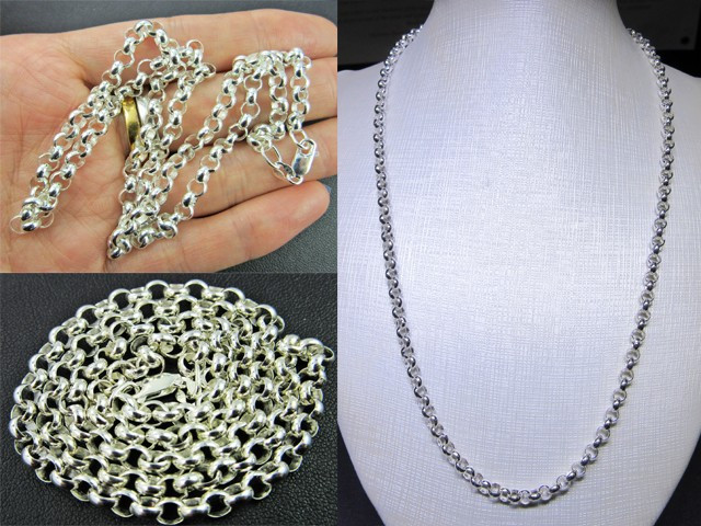 NECKLACE SILVER CHAIN 925 CHAIN 50.5CM CMT 76