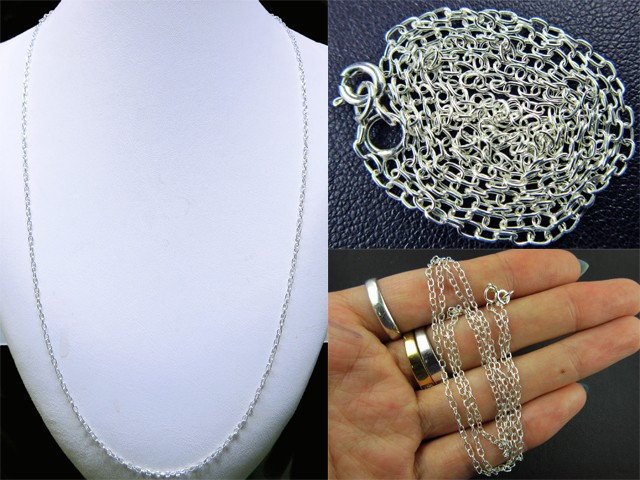 6 PACK NECKLACE SILVER CHAIN 925 CHAIN 56CM CMT 31