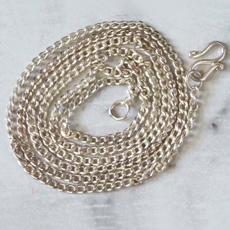 POPULAR SILVER CHAIN 36 CM Long 14 inches WS 609
