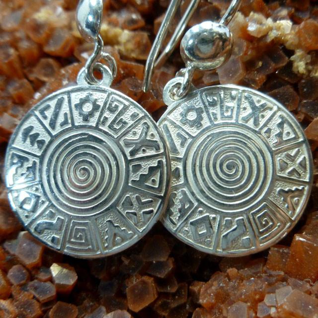 Inca Silver Sheppard Hook Earrings MGMG 82