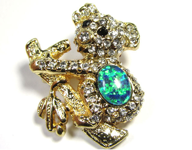 Simulant Jewery NR STYLISH KOALA BEAR  OPAL BROOCH CSS 249