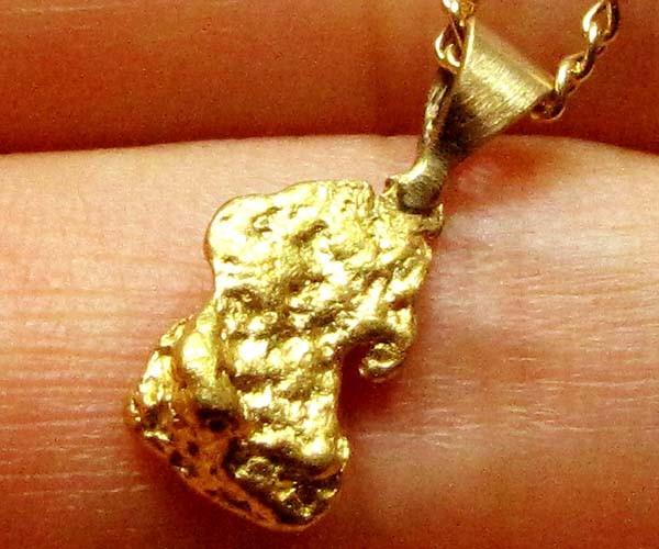 AUSTRALIAN GOLD NUGGET PENDANT 1.71 GRAMS LGN 882