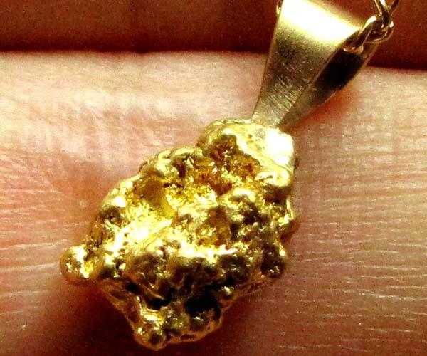 AUSTRALIAN GOLD NUGGET PENDANT 2.05 GRAMS LGN 888