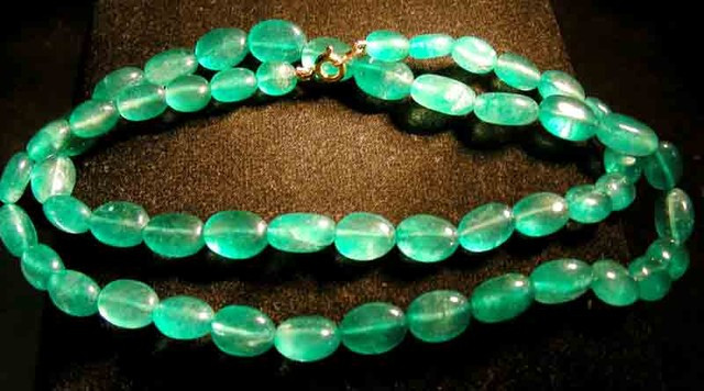 Green quartz GEMSTONE NECKLACE 175.00 CTS 90748