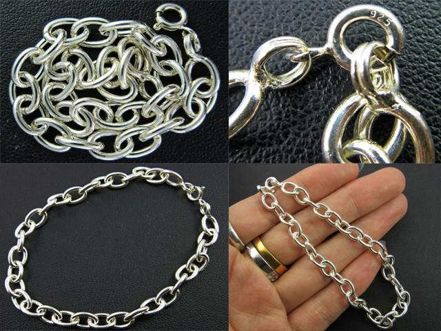 Bracelets Silver Chain SizeSILVER BRACELET 925 CHAIN 18.5CM CMT 172