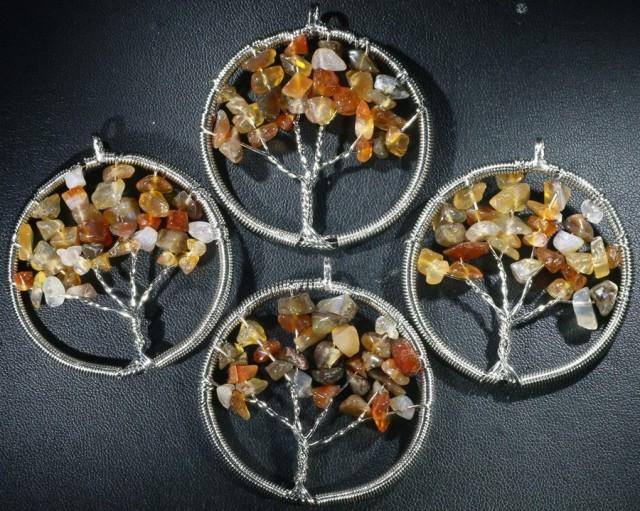Four Tree of Life Gemstones Pendant Jewelry JGG 200