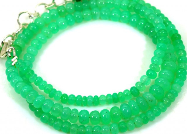 63CTSGemstone Necklace CHRYSOPRASE TBG-2462