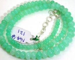 87CTSGemstone Necklace CHRYSOPRASE TBG-2457