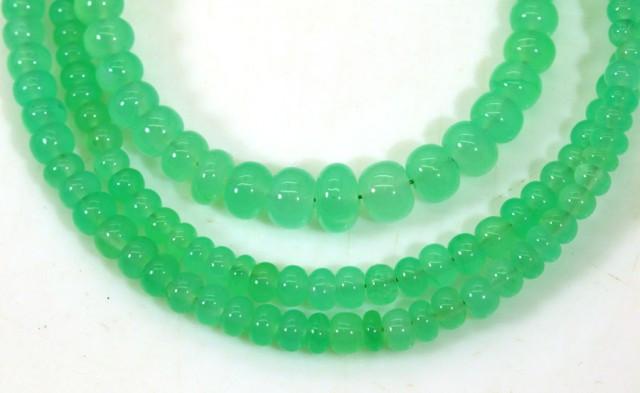57CTSGemstone Necklace CHRYSOPRASE TBG-2464