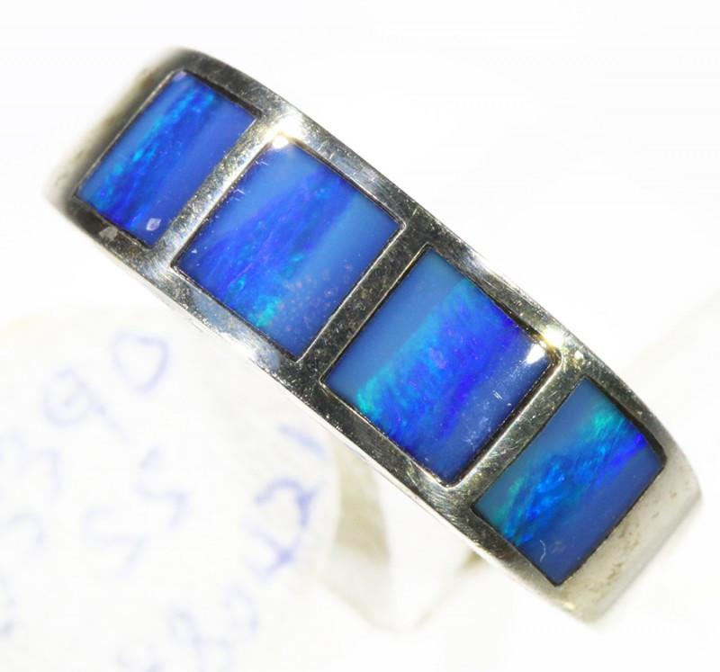 Inlay Opal set in silver CF 1672