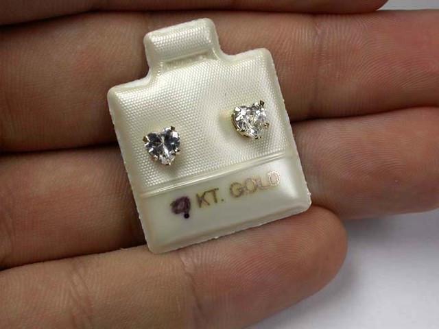 GOLD 9KT CUBIC ZIRCONIA GOLD EARRINGS 3.30 CTS GTJA356