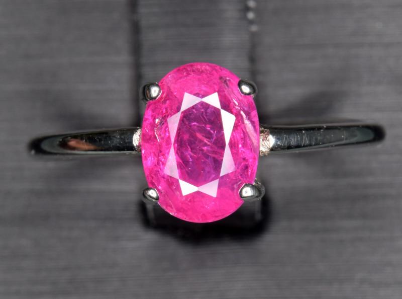 Natural Ruby Silver Ring