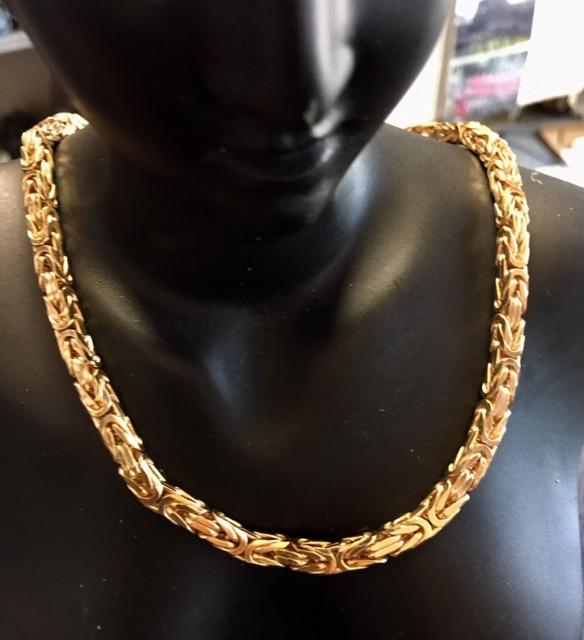 84 Grams 9 K GOLD CHAIN BYZANTINE 84 GRAMS L 428