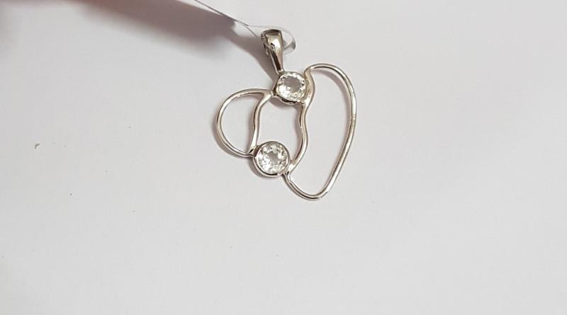 White topaz 925 Sterling silver pendant #34030