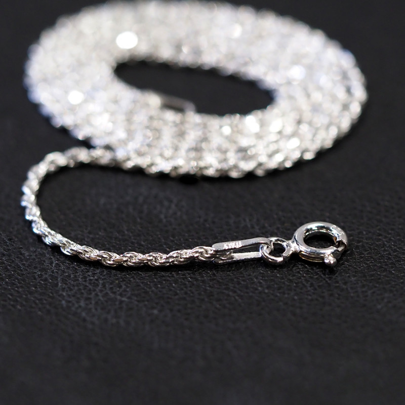 18 Inch,46 cm ITwisted Rope Silver chain  .most popular chain    AM144