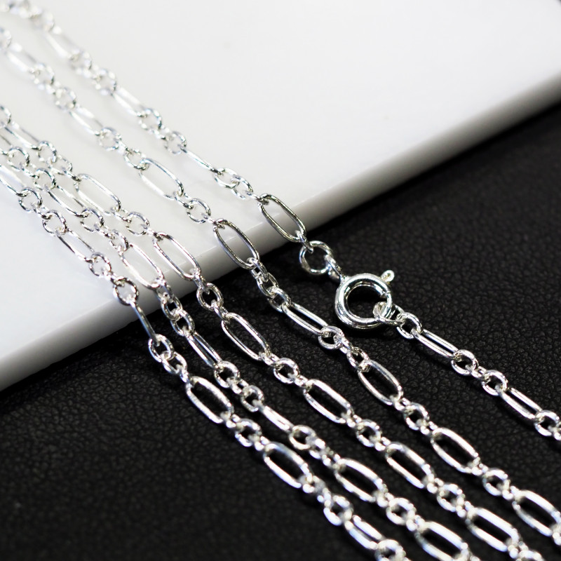 30 Inch,75 cm Long Curb Silver chain , most popular . AM 238