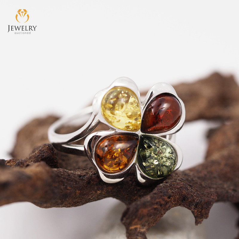 Baltic Amber Sale, Cluster Ring , direct from Poland  AM 299