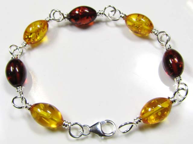 SUN BALTIC BEAD AMBER SILVER BRACLET 23 TCW MYG 713