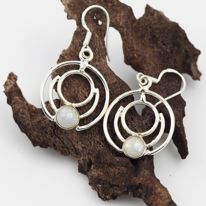 Moonstone earrings sheppard hook   AM594