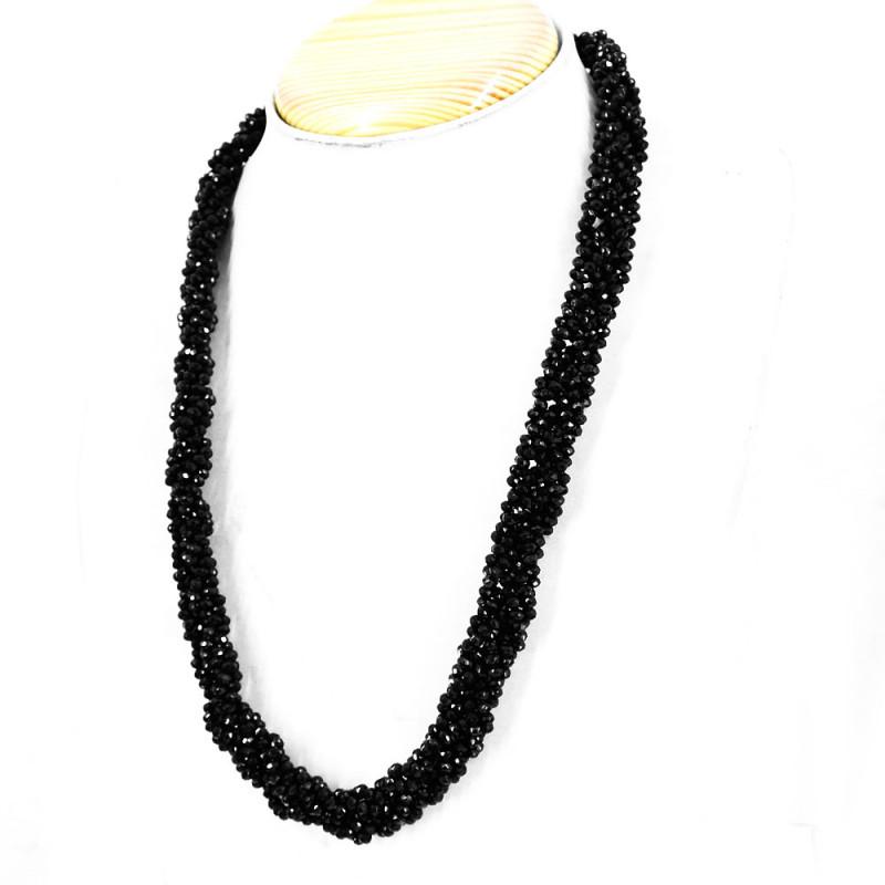 Black Spinel Faceted Beads Designer Necklace