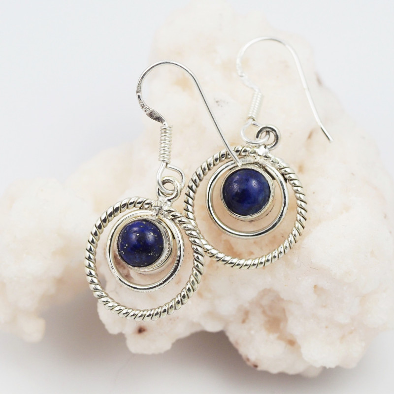 Lapis Lazuli earrings sheppard hook   AM598