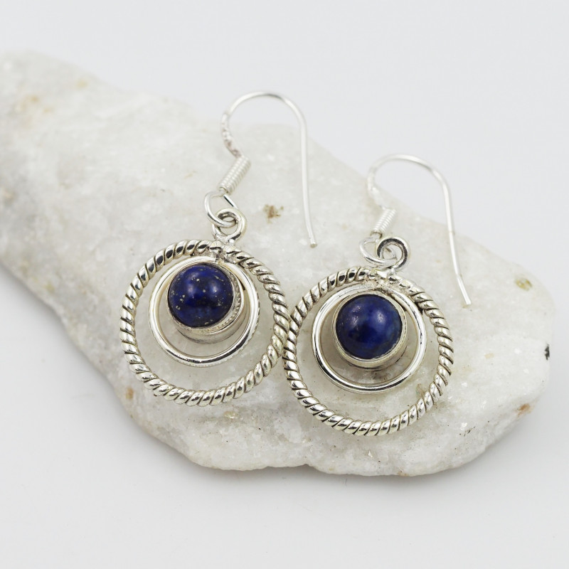 Lapis Lazuli earrings sheppard hook   AM600