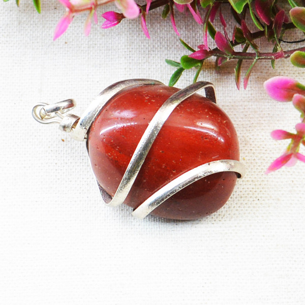 Red Jasper Tumble Pendant