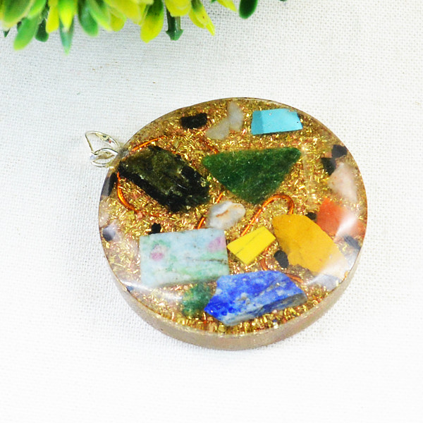 Mix Gem Orgone Pendant