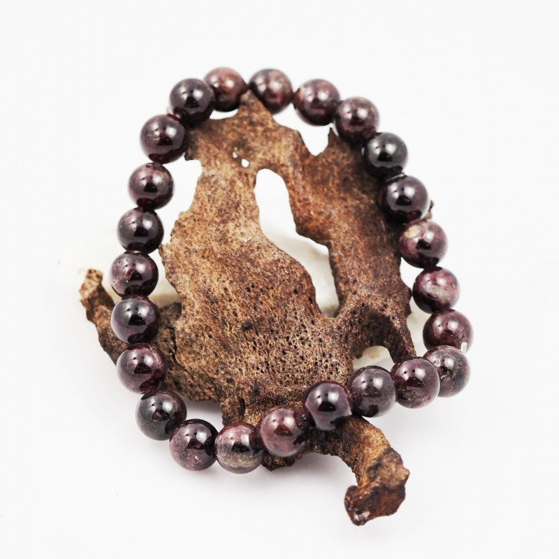 Natural Garnet 8 mm Bead Bracelet  AM 638