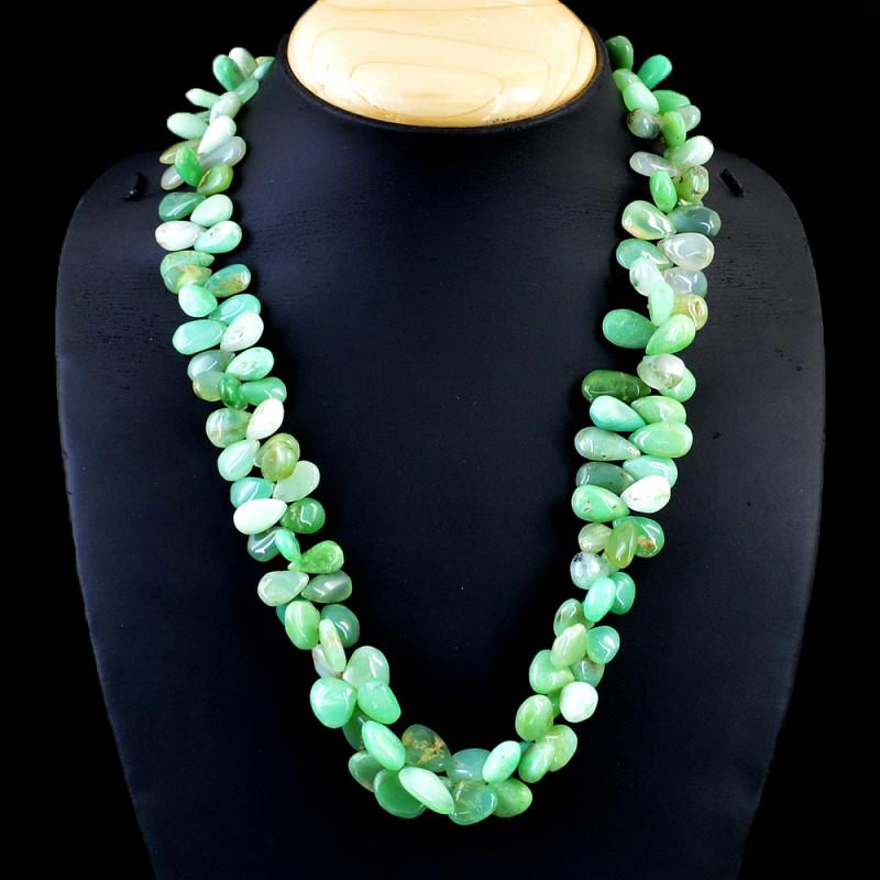 Green Peruvian Opal Beads Necklace