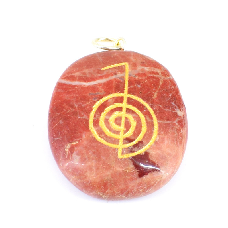 Oval Shape Red Jasper Pendant