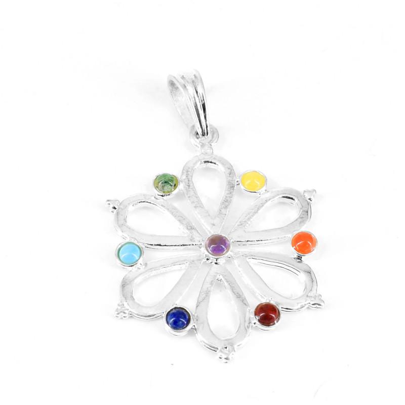 Seven Chakra Flower Pendant