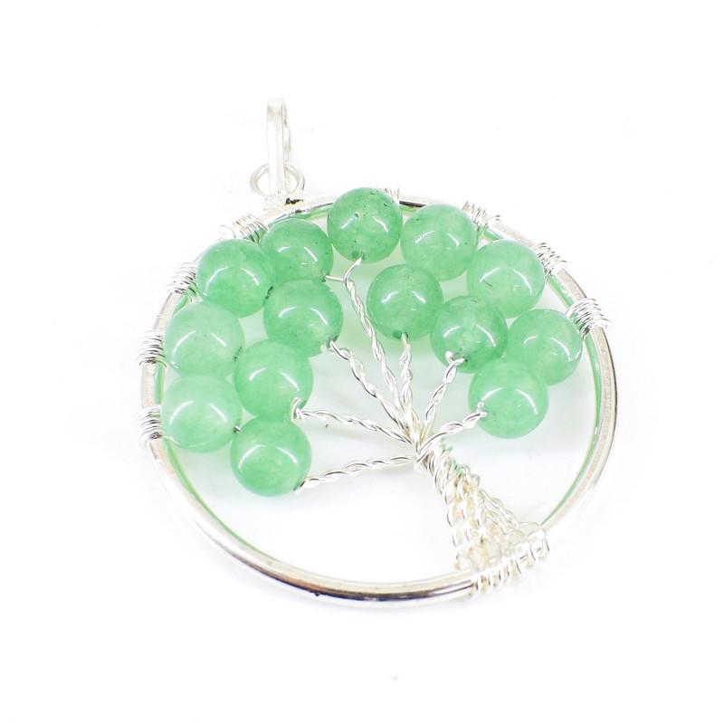 Green Aventurine Tree Pendant