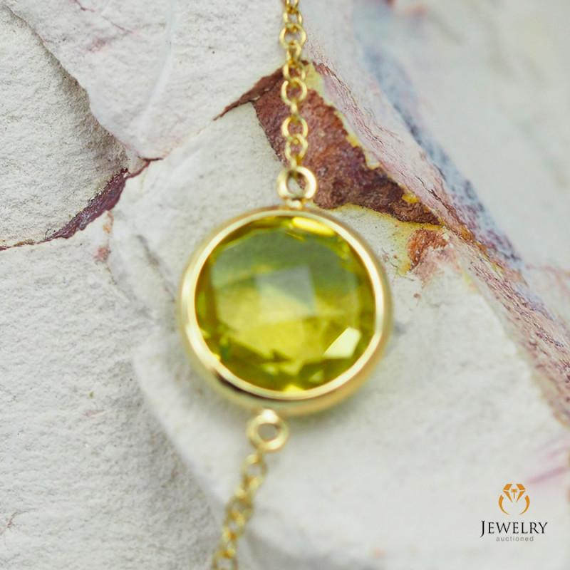 Stylish Lemon Quartz Bracelet in 18K Gold - 56 - B 9933C 1600