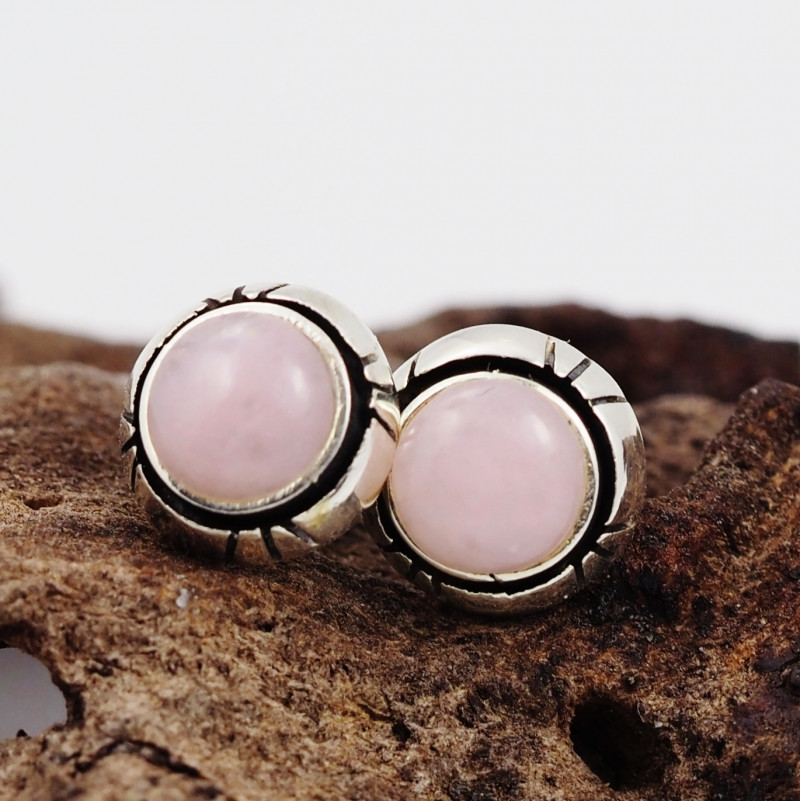 pink natural Peru  silver Earrings,  ,AM 809