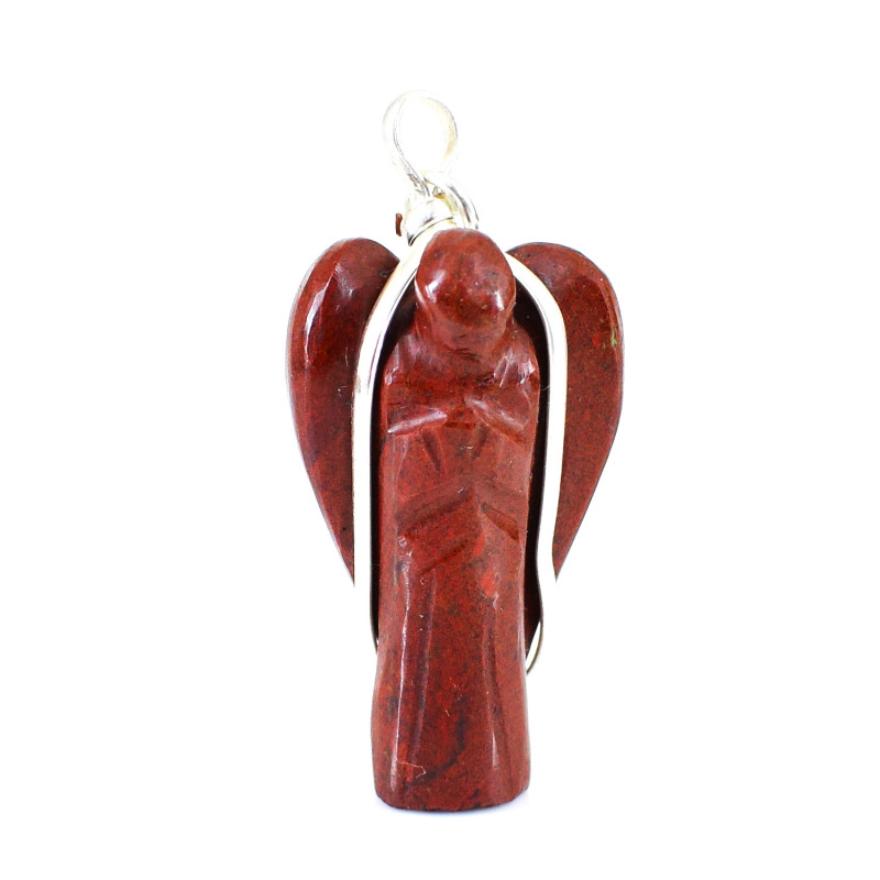 Red Jasper Healing Angel Pendant
