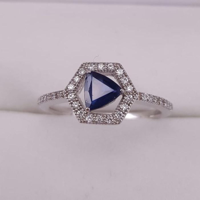 Brillium Treated Sapphire Ring