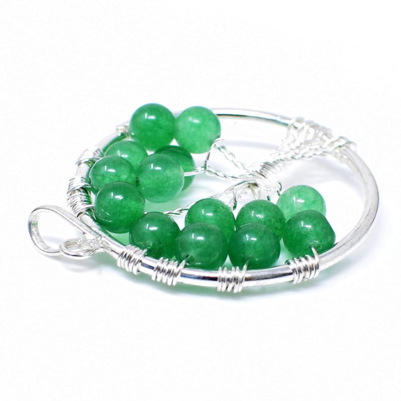 Green Jade Tree Pendant
