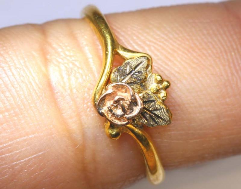 5 CTS 10k SOLID GOLD RING ROSE DESIGN   SG-271