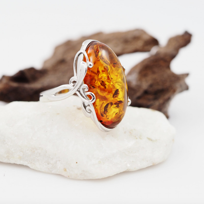 Baltic Amber Sale,Silver Ring  , direct from Poland  AM 842