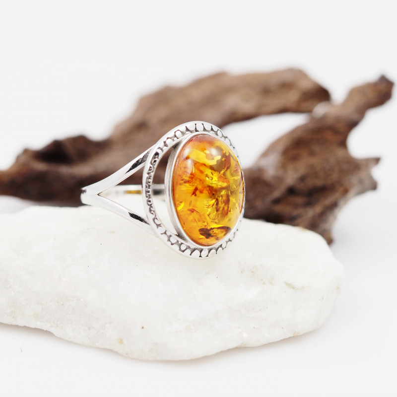 Baltic Amber Sale,Silver Ring  , direct from Poland  AM 843