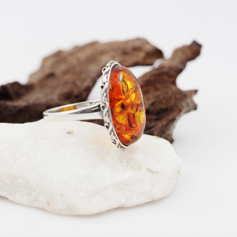 Baltic Amber Sale,Silver Ring  , direct from Poland  AM 847