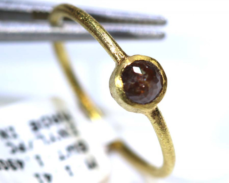 7.6 CTS DIAMOND RING ROSE CUT 14 K S-7 SG-406